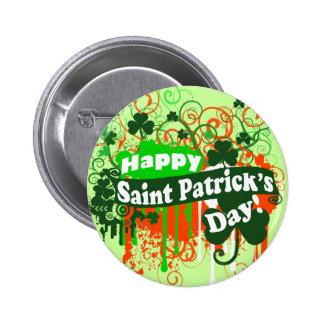 Happy Saint Patricks Day 6 Cm Round Badge