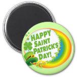 Happy Saint Patrick's Day! 6 Cm Round Magnet