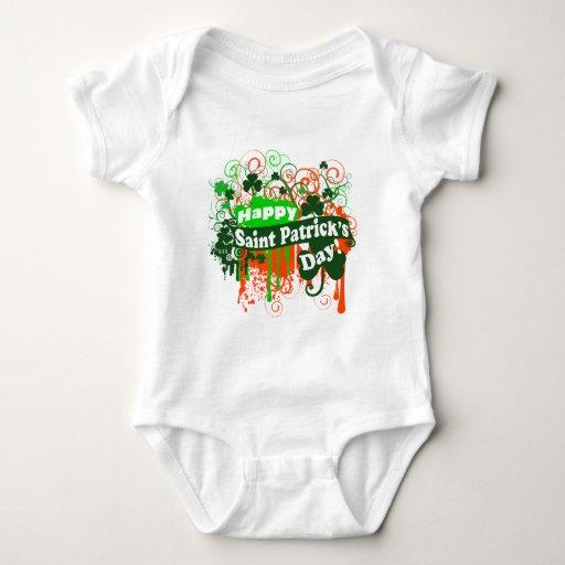 Happy Saint Patricks Day Baby Bodysuit