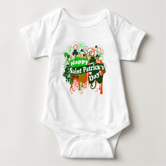 Happy Saint Patricks Day Baby Bodysuit