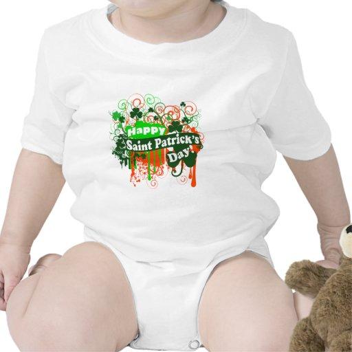 Happy Saint Patricks Day Baby Bodysuits