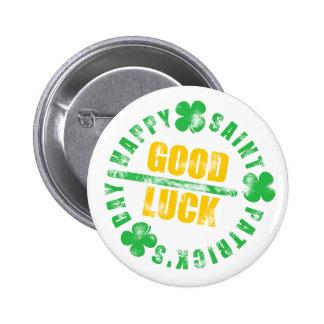 Happy Saint Patricks Day Good Luck 6 Cm Round Badge