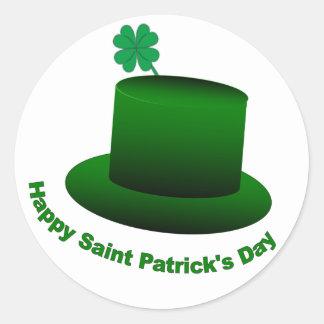 Happy Saint Patricks Day Hat Sticker