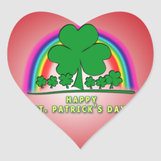 HAPPY SAINT PATRICK'S DAY! IRISH BLESSING HEART STICKER
