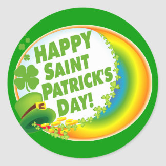 Happy Saint Patrick's Day! Round Sticker