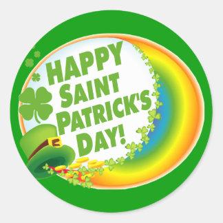 Happy Saint Patrick's Day! Round Sticker