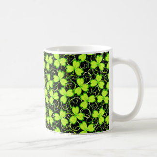 Happy Saint Patrick's Day, Three Leaf Clovers Coffee Mug