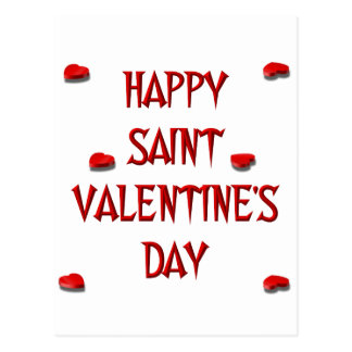 Happy Saint Valentine's Day (Candy Boxes) Postcard