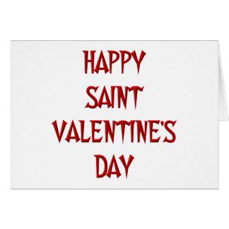 Happy Saint Valentine's Day Card