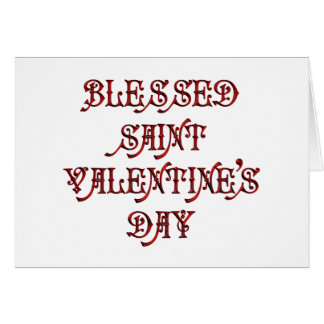 Happy Saint Valentine's Day Greeting Card