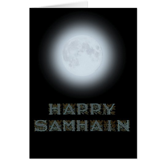 Happy Samhain Full Moon Card