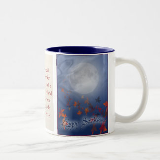 Happy Samhain Moon & Veil Two-Tone Coffee Mug