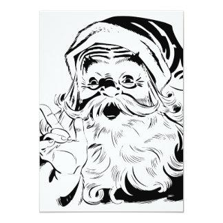 Happy Santa 13 Cm X 18 Cm Invitation Card