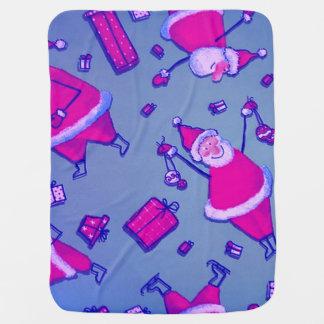 Happy Santa Swaddle Blankets