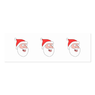 Happy Santa. Pack Of Skinny Business Cards