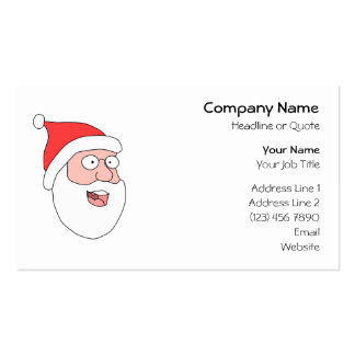 Happy Santa. Pack Of Standard Business Cards