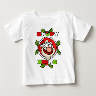 Happy Santa Cartoon Baby Tee