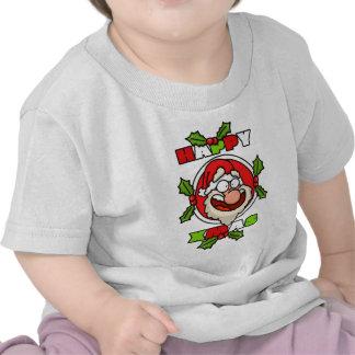 Happy Santa Cartoon Baby Tee