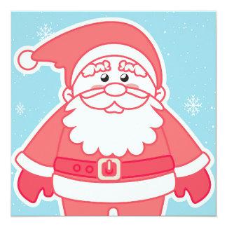 Happy Santa Claus 13 Cm X 13 Cm Square Invitation Card