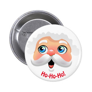 Happy Santa Claus Cartoon 6 Cm Round Badge