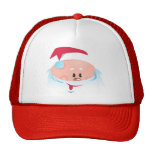 Happy Santa Claus face Trucker Hats