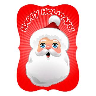 Happy Santa Claus 13 Cm X 18 Cm Invitation Card