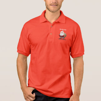 Happy Santa Claus With A Sack Full Of Gifts Polo Shirt