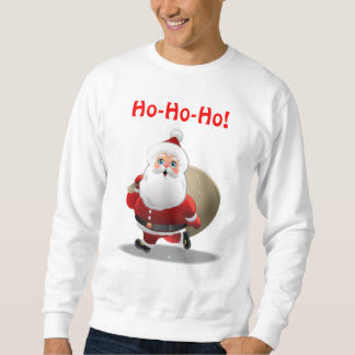 Happy Santa Claus With A Sack Full Of Gifts Sweatshirt