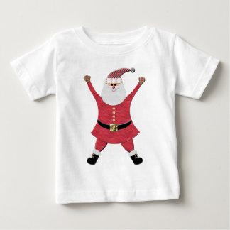 Happy Santa Jumping for Joy Baby T-Shirt
