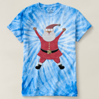 Happy Santa Jumping for Joy Tshirt