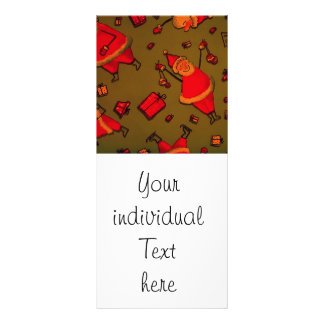 happy santa red personalized rack card