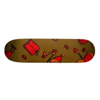 happy santa red skate board