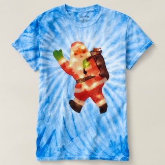 Happy Santa with Faux Christmas Lights T-Shirt