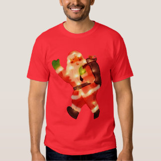 Happy Santa with Faux Christmas Lights T Shirts