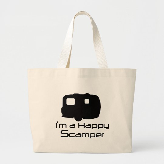 Happy Scamper Fun Stuff! Large Tote Bag