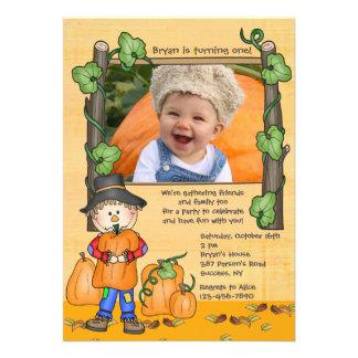 Happy Scarecrow Photo Invitation