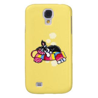 Happy Schnauzer Dreams Winter Galaxy S4 Case