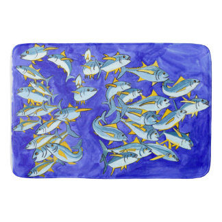 Happy School of Yellowfin Tuna Bath Mats
