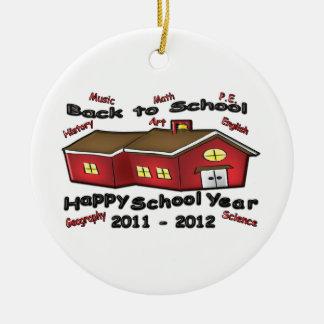 Happy School Year Christmas Ornament