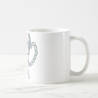 Happy Scorpion Insect Cartoon Basic White Mug