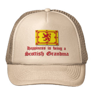 Happy Scottish Grandma Cap
