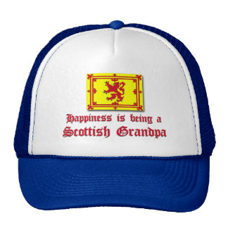 Happy Scottish Grandpa Cap