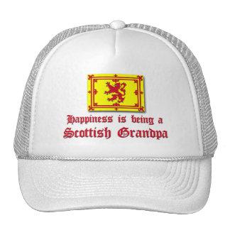 Happy Scottish Grandpa Mesh Hats