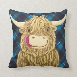 Happy Scottish Highland Cow Cushions