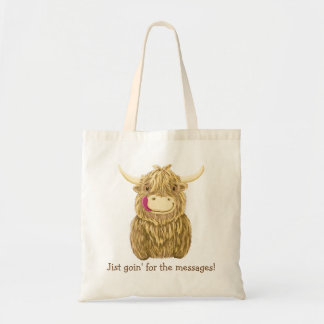 Happy Scottish Highland Cow Tote Bag