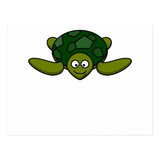 Happy Sea Turtle Postcard