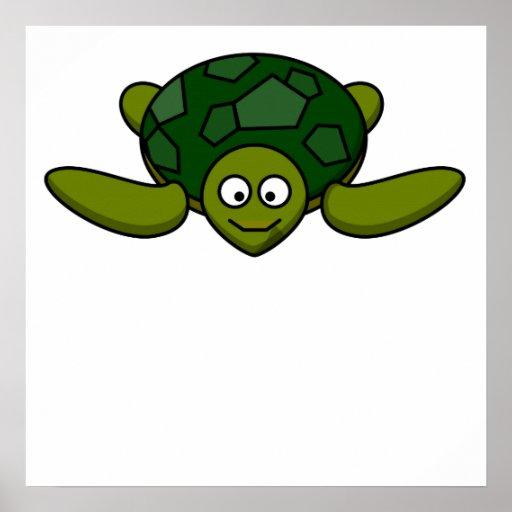 Happy Sea Turtle Print