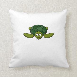 Happy Sea Turtle Throw Pillows
