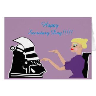 Happy Secretary Day Card