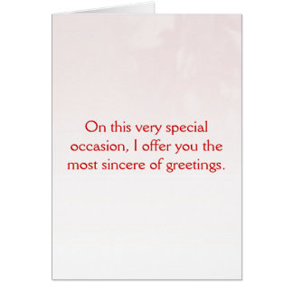 Happy shallow interpretation of romance day greeting card